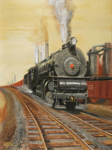 Pennsy Painting - On The Great Steel Road by Christopher Jenkins
