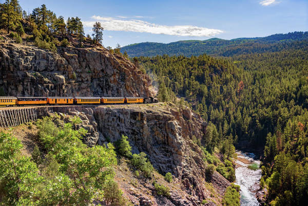 Photograph - On The High Line - Durango-silverton Narrow Gauge Railroad by Gregory Ballos