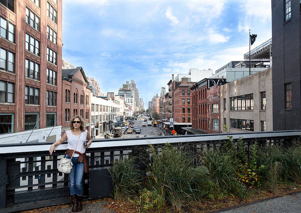 Photograph - On The Highline Overlooking Chelsea by Pete Hendley