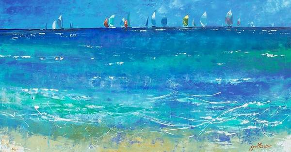 Caribbean Wall Art - Painting - On The Horizon by Jan Farara