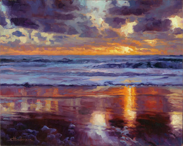 Sand Wall Art - Painting - On The Horizon by Steve Henderson