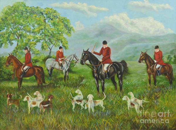 Country Club Painting - On The Hunt by Charlotte Blanchard