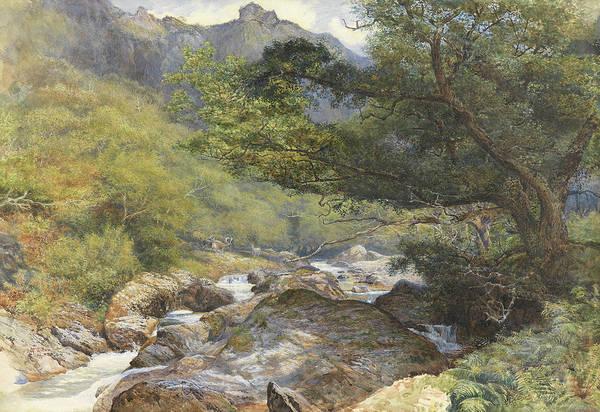 Devon Painting - On The Lyn, North Devon by William Henry Millais