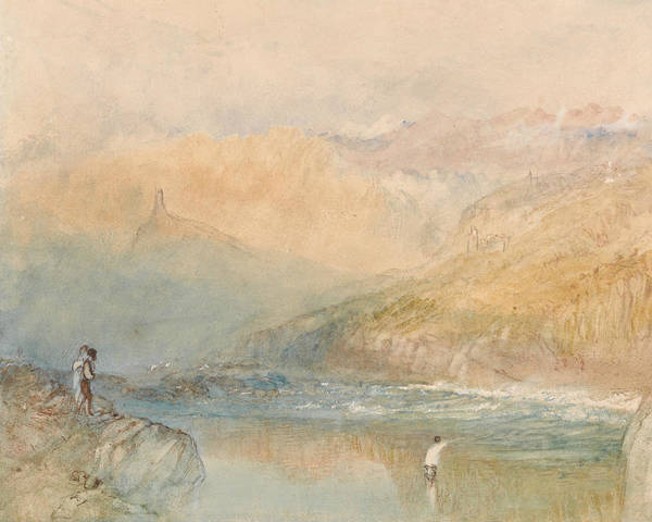 Painting - On The Mosell Near Traben Trarbach by Joseph Mallord William Turner