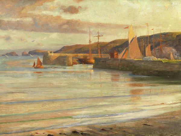 Devon Painting - On The North Devon Coast by Frank Dicksee