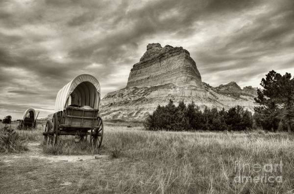 Photograph - On The Oregon Trail # 2 Sepia Tone by Mel Steinhauer