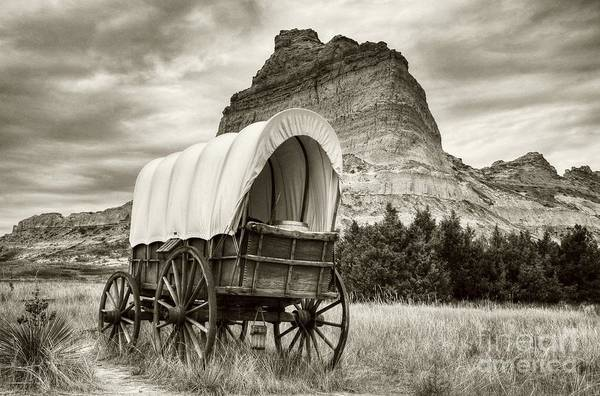 Photograph - On The Oregon Trail Sepia Tone by Mel Steinhauer