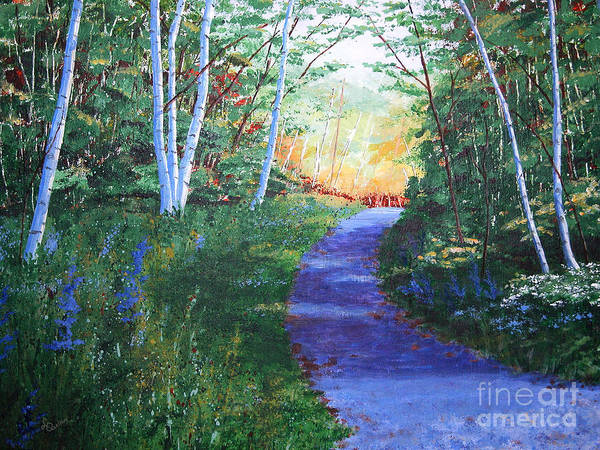 Painting - On The Path by Lynn Quinn