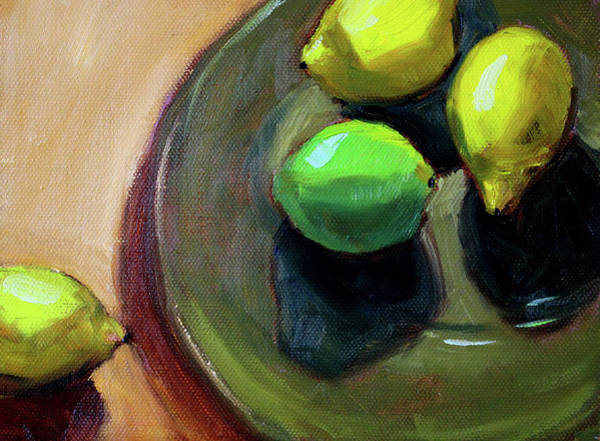 Wall Art - Painting - On The Plate by Nancy Merkle