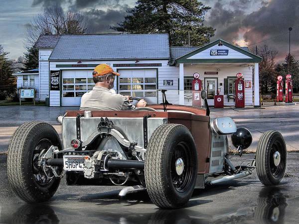 Rat Rod Wall Art - Digital Art - On The Proud Highway .... by Rat Rod Studios