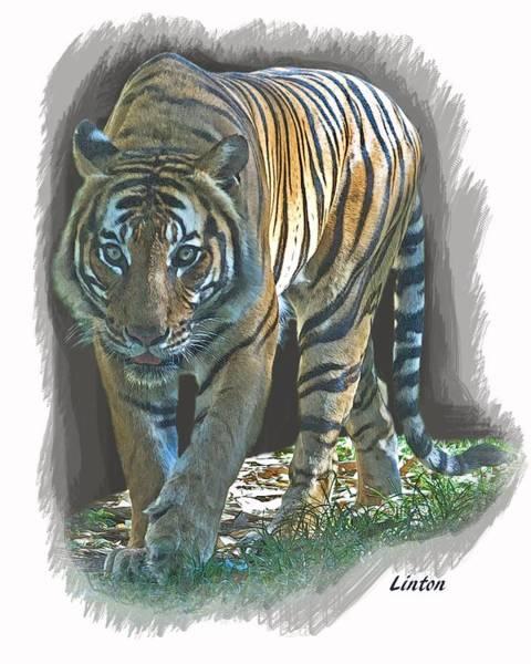 Digital Art - On The Prowl by Larry Linton