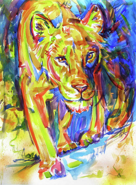 Painting - On The Prowl by RB Anderson