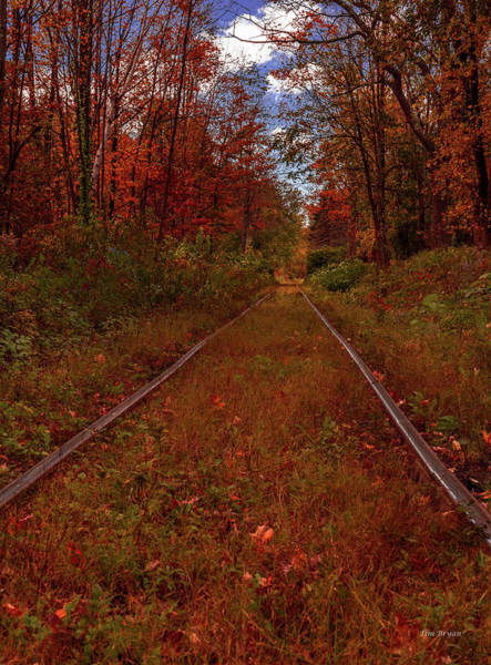 Photograph - On The Rails In Vermont by Tim Bryan
