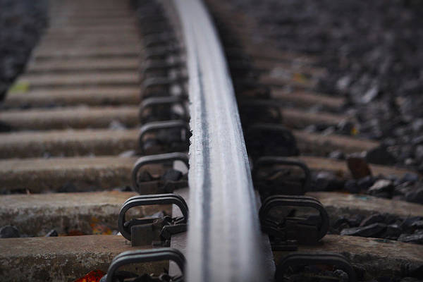 Railroad Tie Wall Art - Photograph - On The Right Track by Marnie Patchett