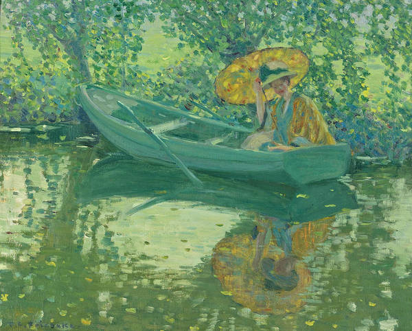 Wall Art - Painting - On The River by Frederick Carl Frieseke