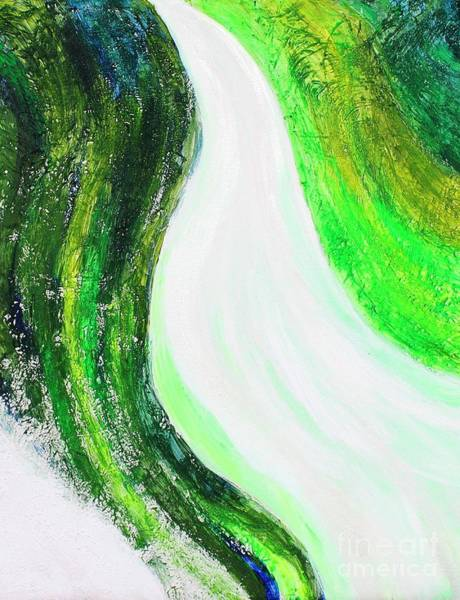 Diverted Wall Art - Painting - On The Road In Green by Sarahleah Hankes