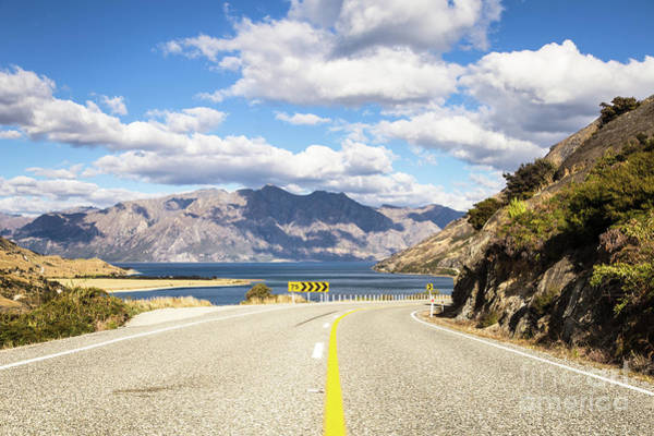 Photograph - On The Road In New Zealand Near Wanaka by Didier Marti