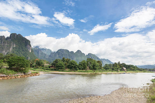Photograph - On The Road In The Very Beautiful Countryside Around Vang Vieng In Laos by Didier Marti