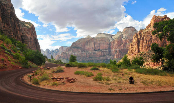 Photograph - On The Road In Zion National Park by Ginger Wakem