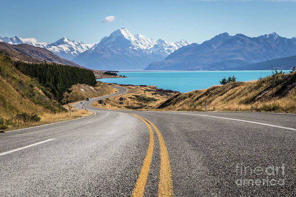 Photograph - On The Road Toward Mt Cook In New Zealand South Island by Didier Marti