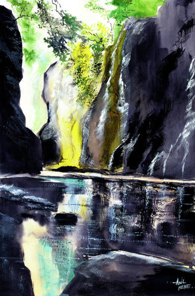 Painting - On The Rocks by Anil Nene