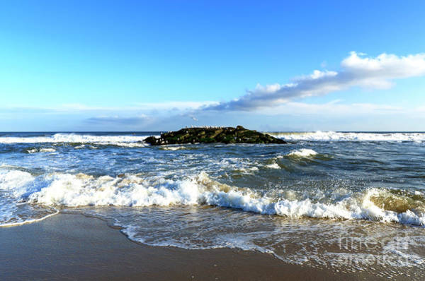 Photograph - On The Rocks At Asbury Park by John Rizzuto