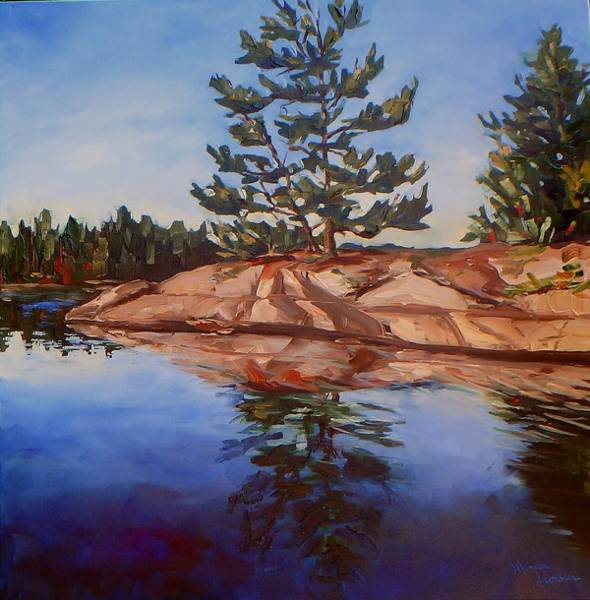 Painting - On The Rocks by Monica Ironside
