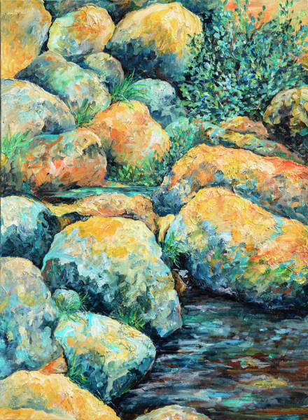 Painting - On The Rocks by Sally Quillin