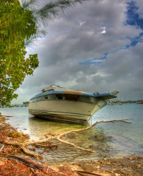 Powerboat Photograph - On The Rocks by William Wetmore