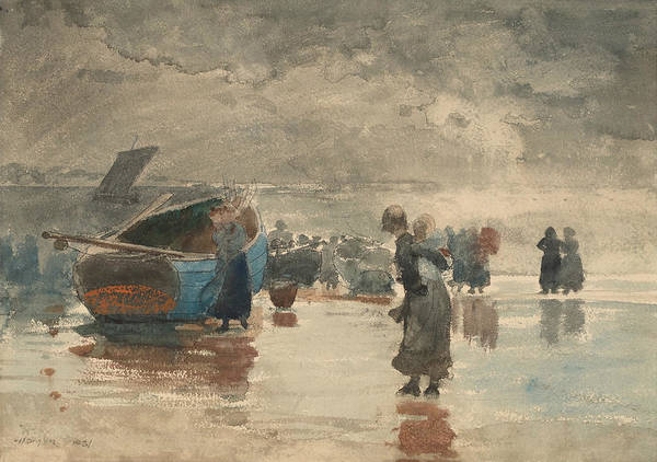 Painting - On The Sands by Winslow Homer