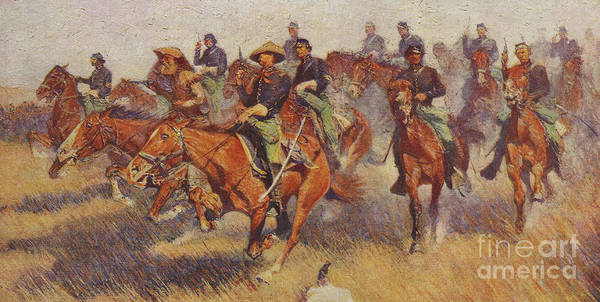 Wall Art - Painting - On The Southern Plains In 1860 by Frederic Remington