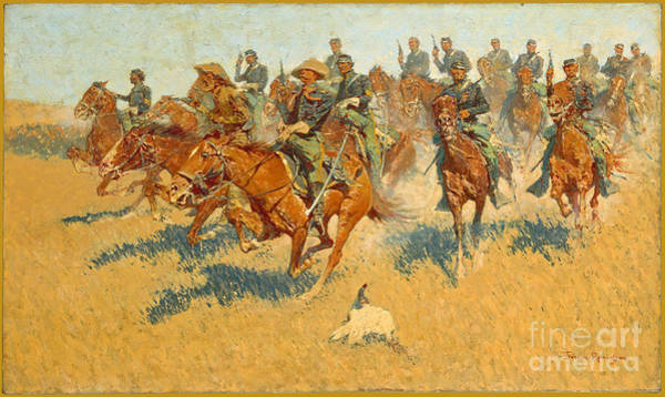 Wall Art - Photograph - On The Southern Plains Frederic Remington by John Stephens
