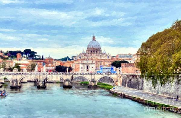 Photograph - On The Tiber River In Rome by Mel Steinhauer