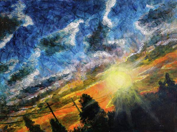 Leta Eydelberg Wall Art - Painting - On The Train by Leta Eydelberg