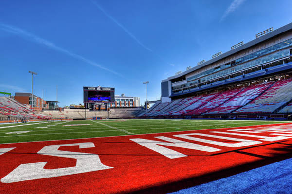 Photograph - On The Turf Of Martin Stadium by David Patterson