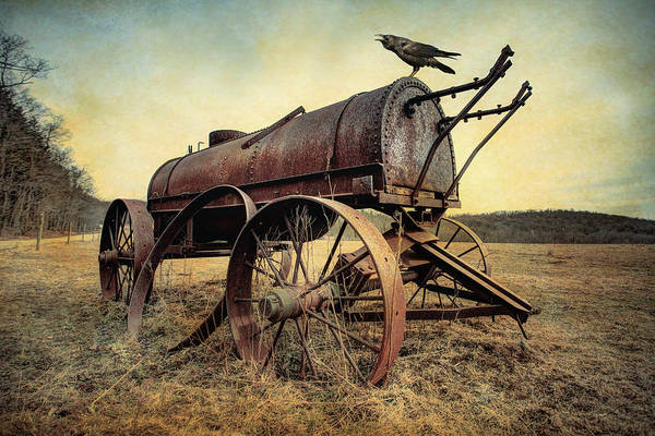 Photograph - On The Water Wagon - Agricultural Relic by Gary Heller
