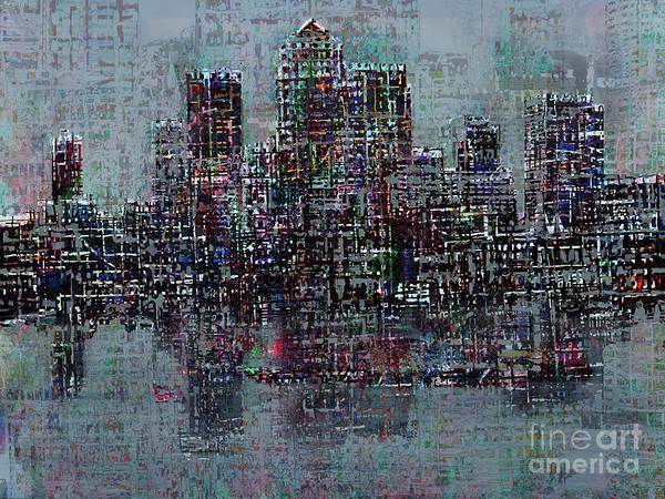 River Thames Digital Art - On The Waterfront 3 by Andy  Mercer