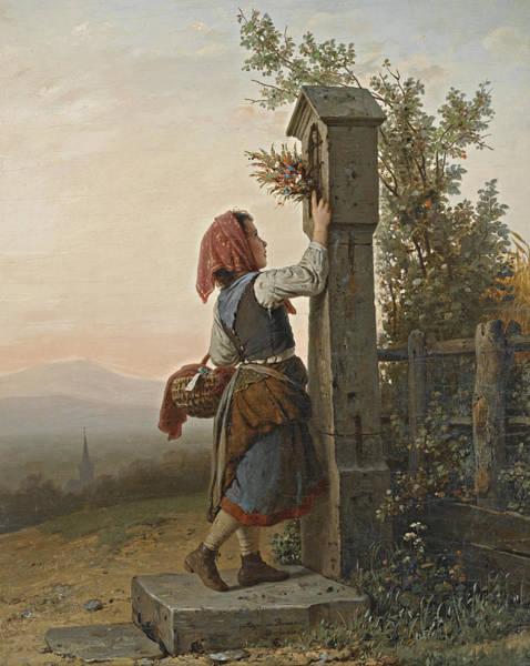Bremen Wall Art - Painting - On The Way Home by Johann Georg Meyer von Bremen