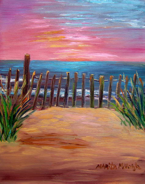 Cape May Painting - On The Way To Cape May by Marita McVeigh