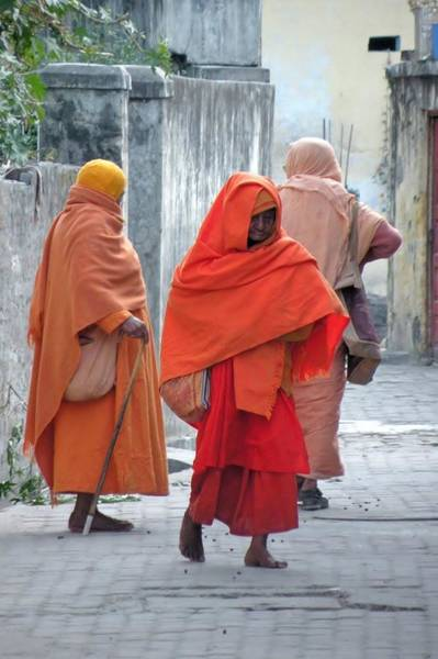 Photograph - On The Way To Morning Prayers - India by Kim Bemis