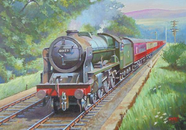 0 Painting - On The Welsh Border. by Mike Jeffries