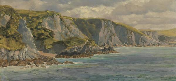 Brett Wall Art - Painting - On The Welsh Coast  by John Brett