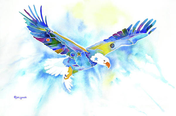 Painting - On The Wings Of An Eagle by Jo Lynch