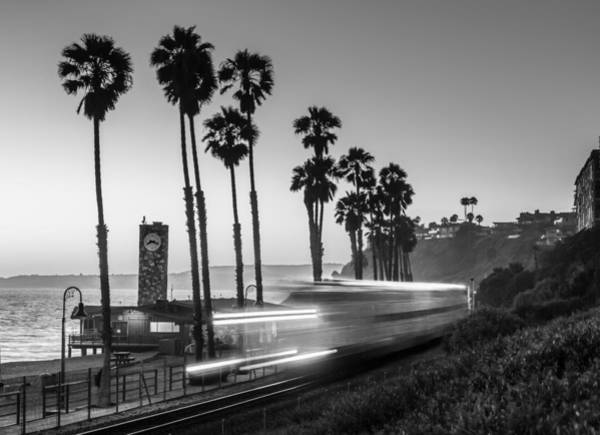 Photograph - On Time Black And White by Scott Campbell