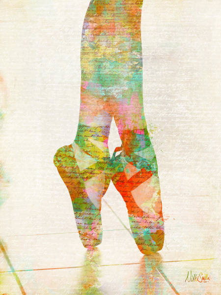 Talent Wall Art - Digital Art - On Tippie Toes by Nikki Smith
