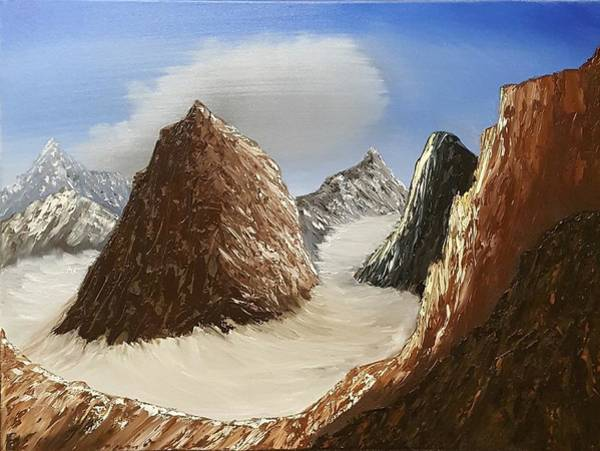 Wall Art - Painting - On Top Of The Mountains by Willy Proctor