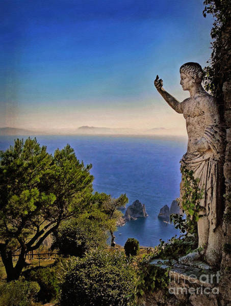 Isle Of Capri Wall Art - Photograph - On Top Of The World by Sue Melvin