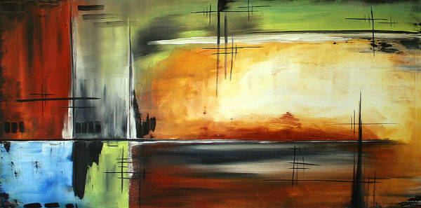 Upbeat Painting - On Track Original Madart Painting by Megan Duncanson