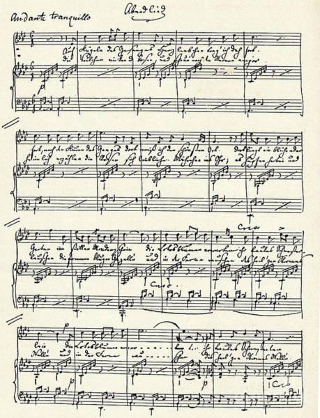 Wall Art - Drawing - On Wings Of Song by Felix Mendelssohn