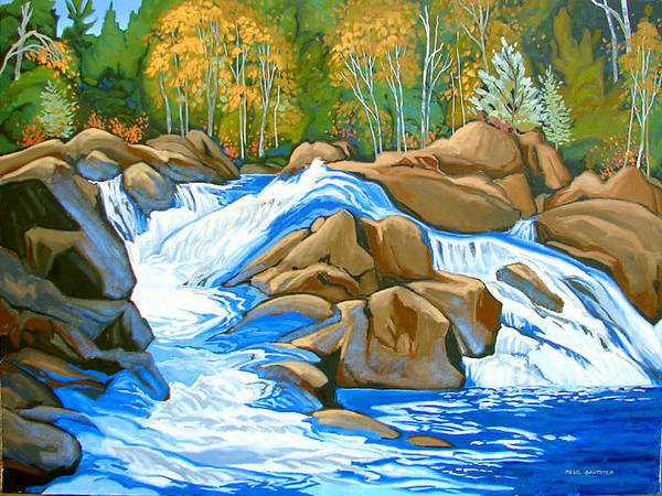 Wall Art - Painting - Onaping Falls by Paul Gauthier